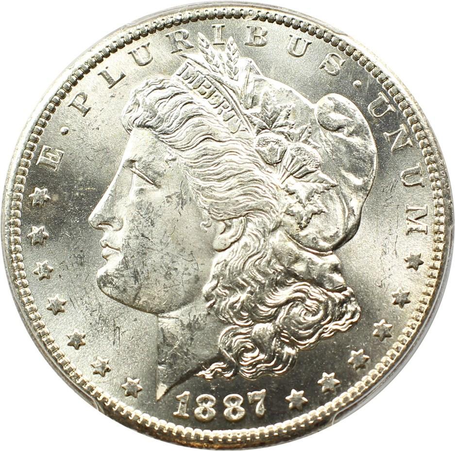sample image for 1887-S $1  MS VAM-2, S/S