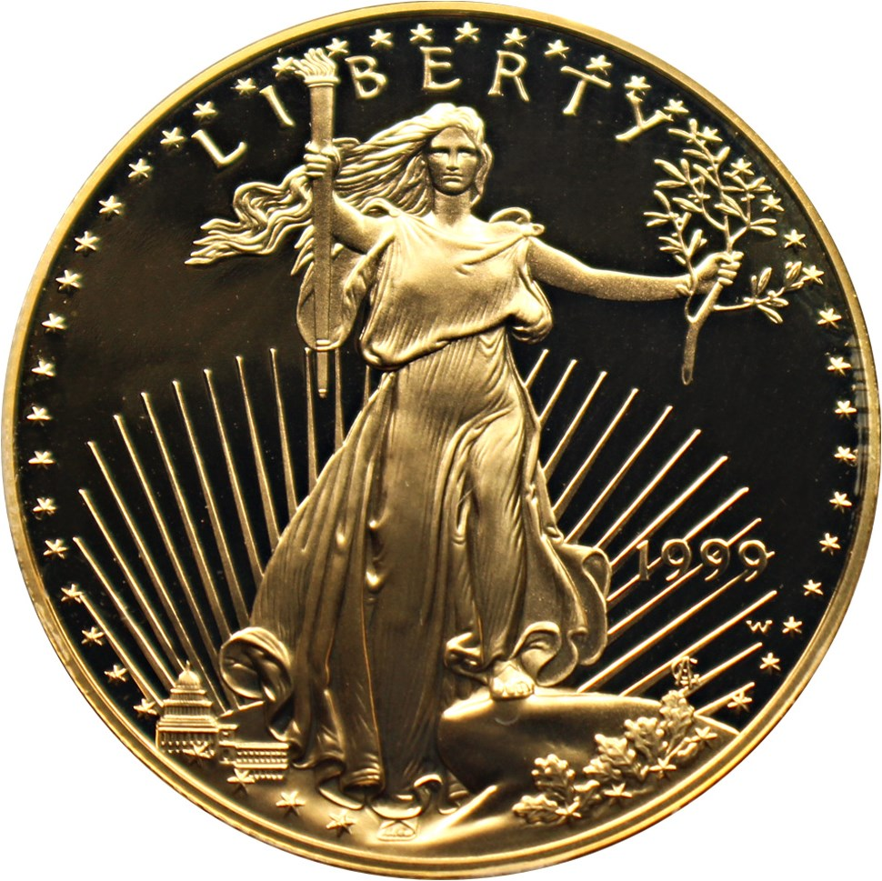 sample image for 1999-W Gold Eagle $50  PR DCAM