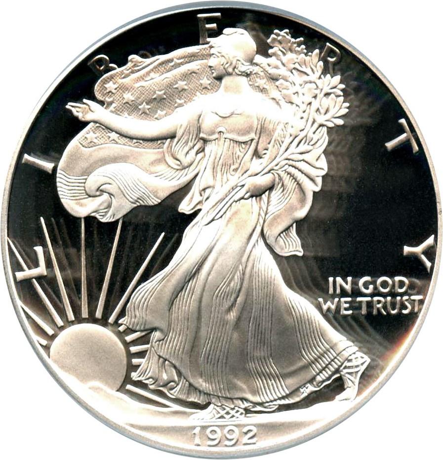 sample image for 1992-S Silver Eagle $1  PR DCAM