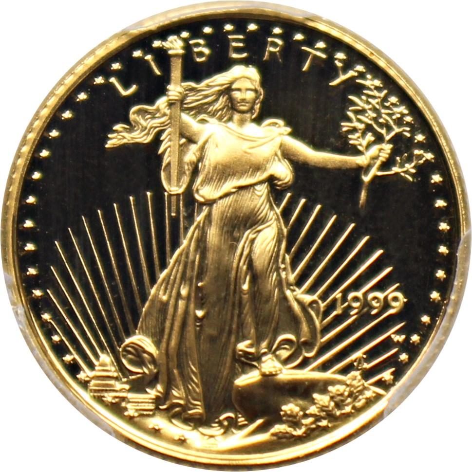 sample image for 1999-W Gold Eagle $5  PR DCAM
