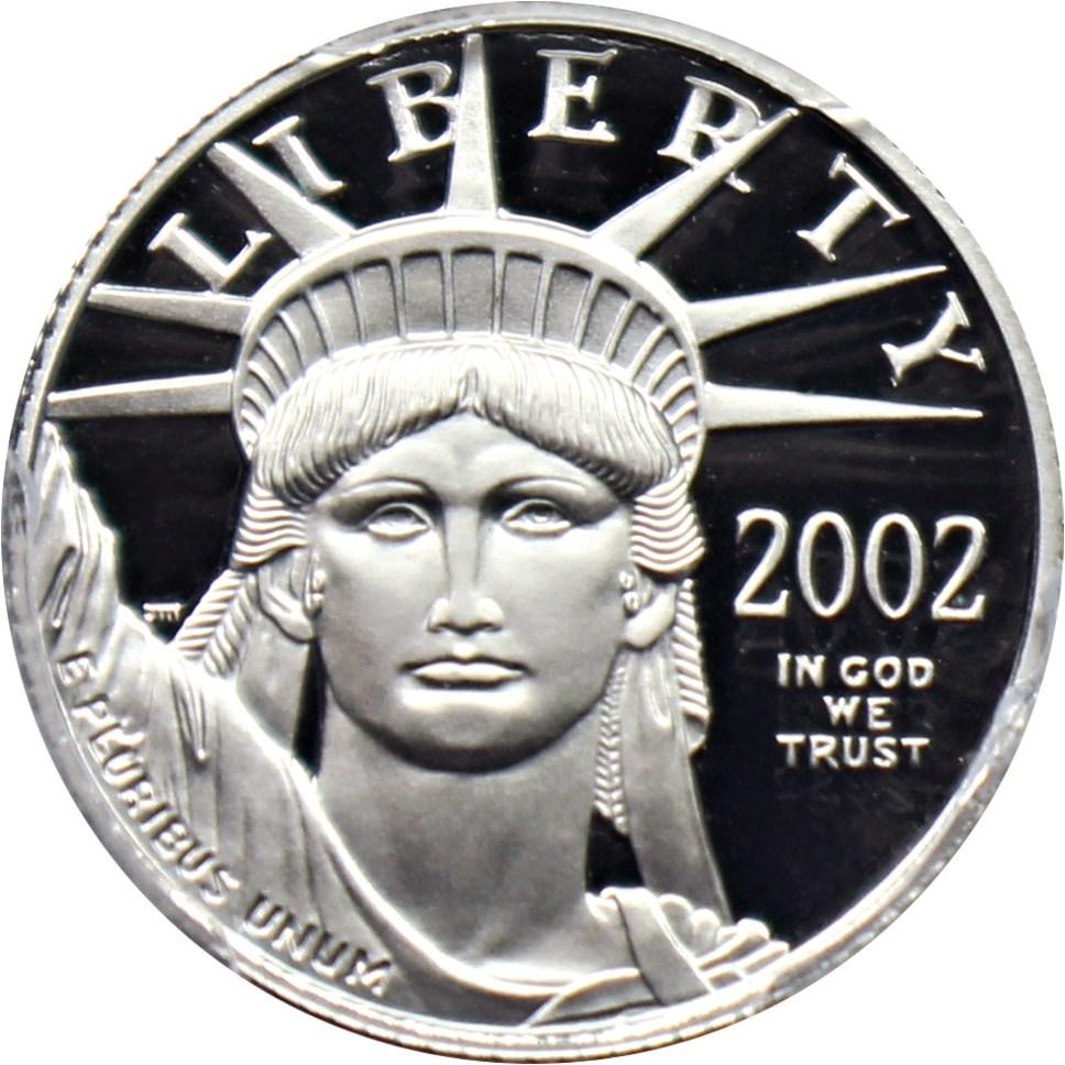 sample image for 2002-W Platinum Eagle $10  PR DCAM