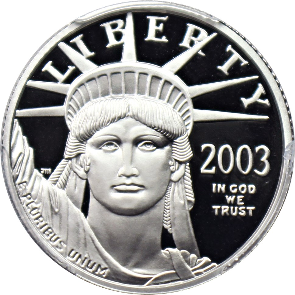 sample image for 2003-W Platinum Eagle $25  PR DCAM