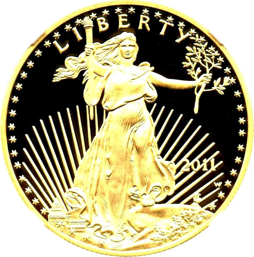 sample image for 2011-W Gold Eagle $50  PR DCAM