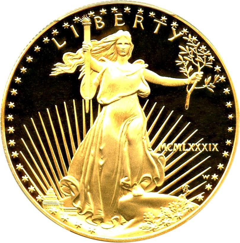 sample image for 1989-W Gold Eagle $50  PR DCAM