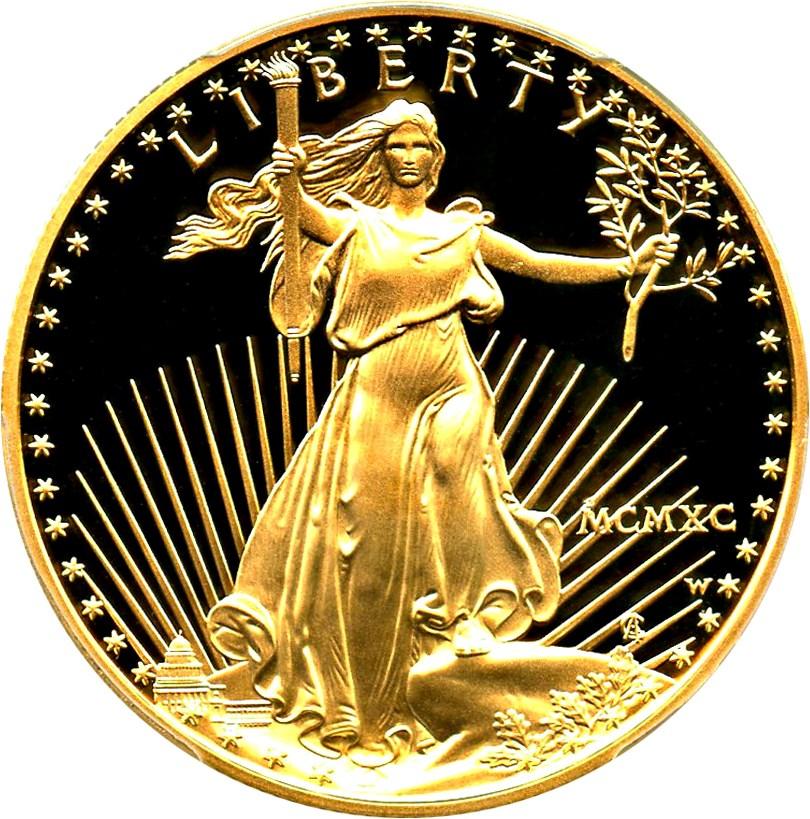 sample image for 1990-W Gold Eagle $50  PR DCAM