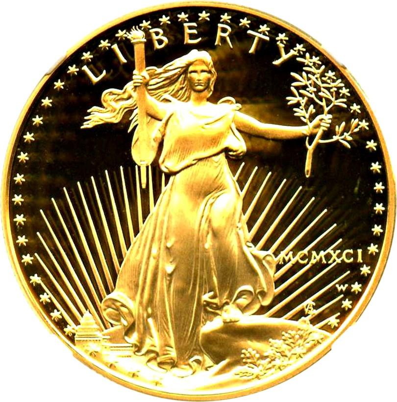 sample image for 1991-W Gold Eagle $50  PR DCAM