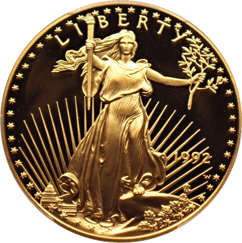 sample image for 1992-W Gold Eagle $50  PR DCAM