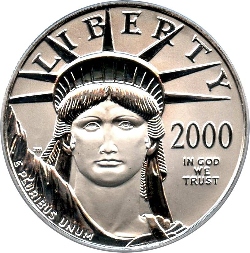 sample image for 2000 Platinum Eagle $100  MS