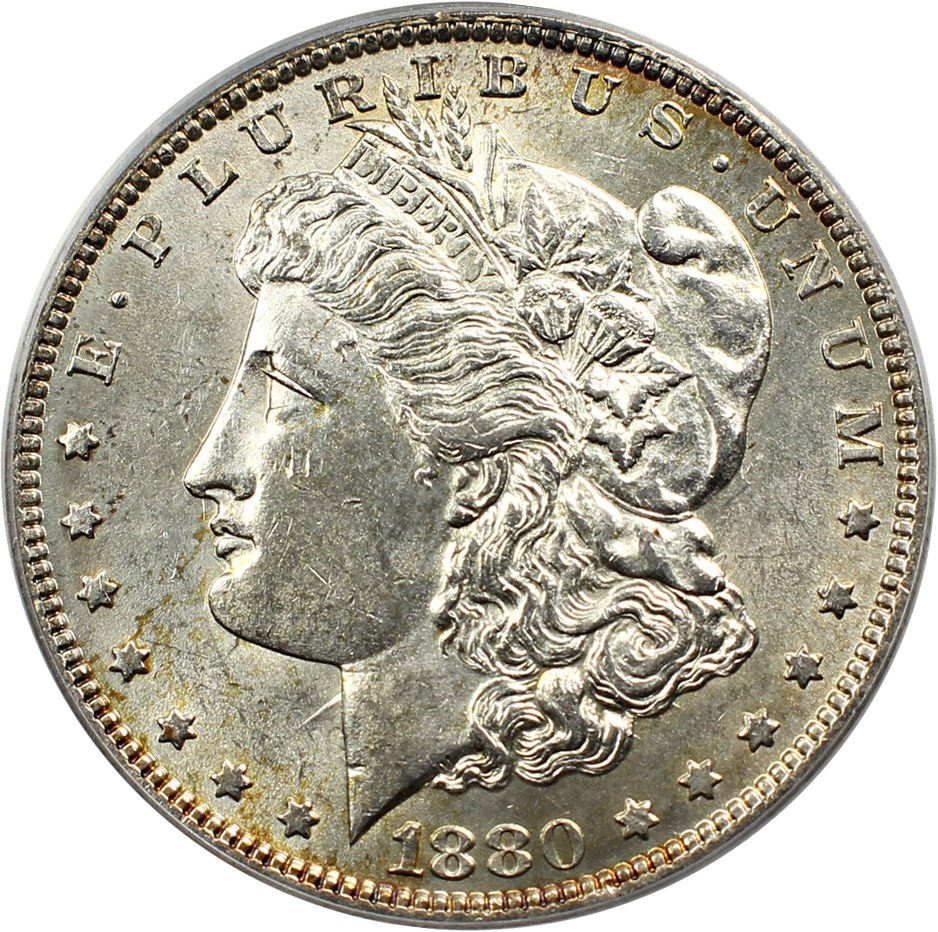 sample image for 1880-O $1  MS VAM-6, 8/7 Ear