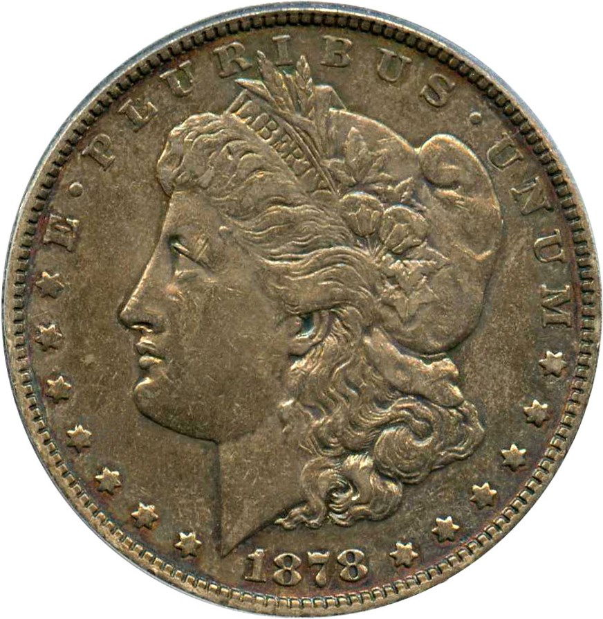 sample image for 1878 7TF Reverse of 1878 $1  MS VAM-168, Doubled P