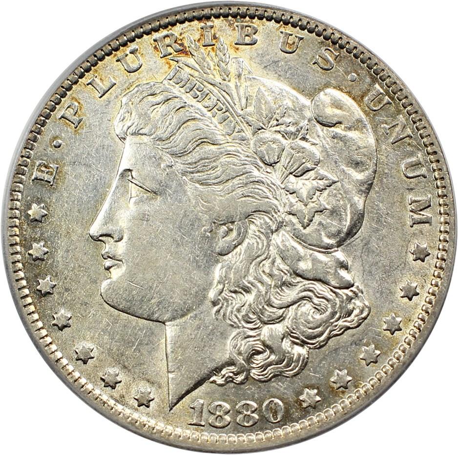 sample image for 1880-O $1  MS VAM-49, 8/7 Ear Hangnail