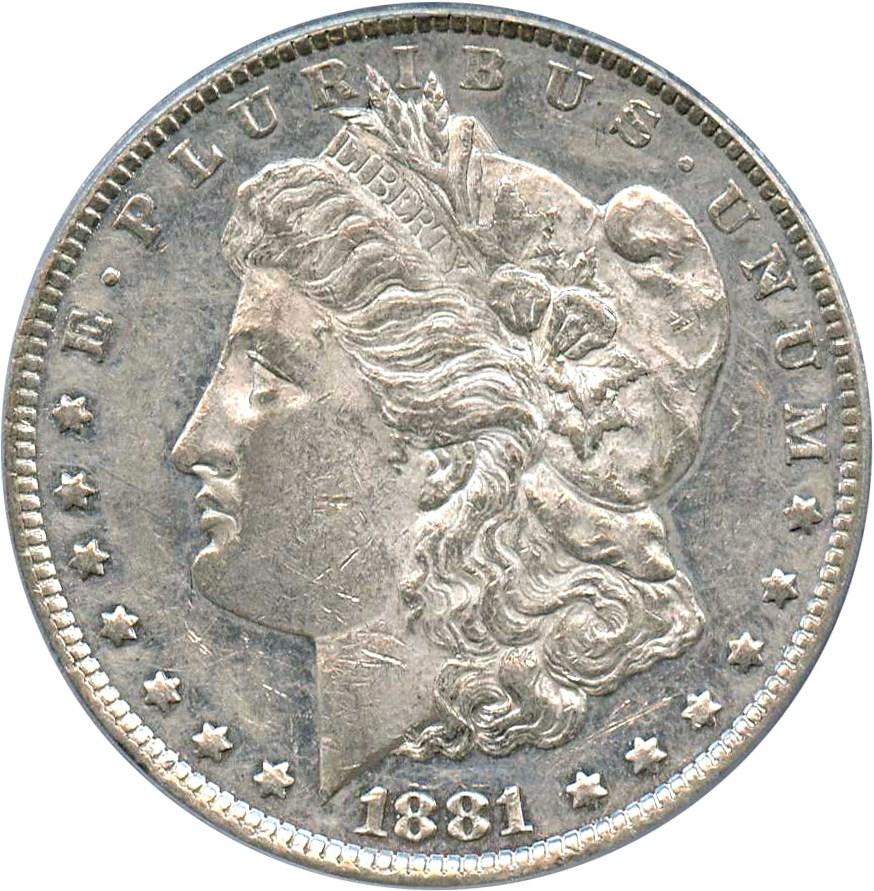 sample image for 1881-O $1  MS VAM-27, Doubled Ear