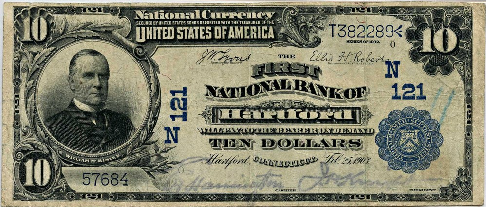 sample image for 1902 3rd Charter Period $10  Plain Back 3rd Issue (Fr.# 624)