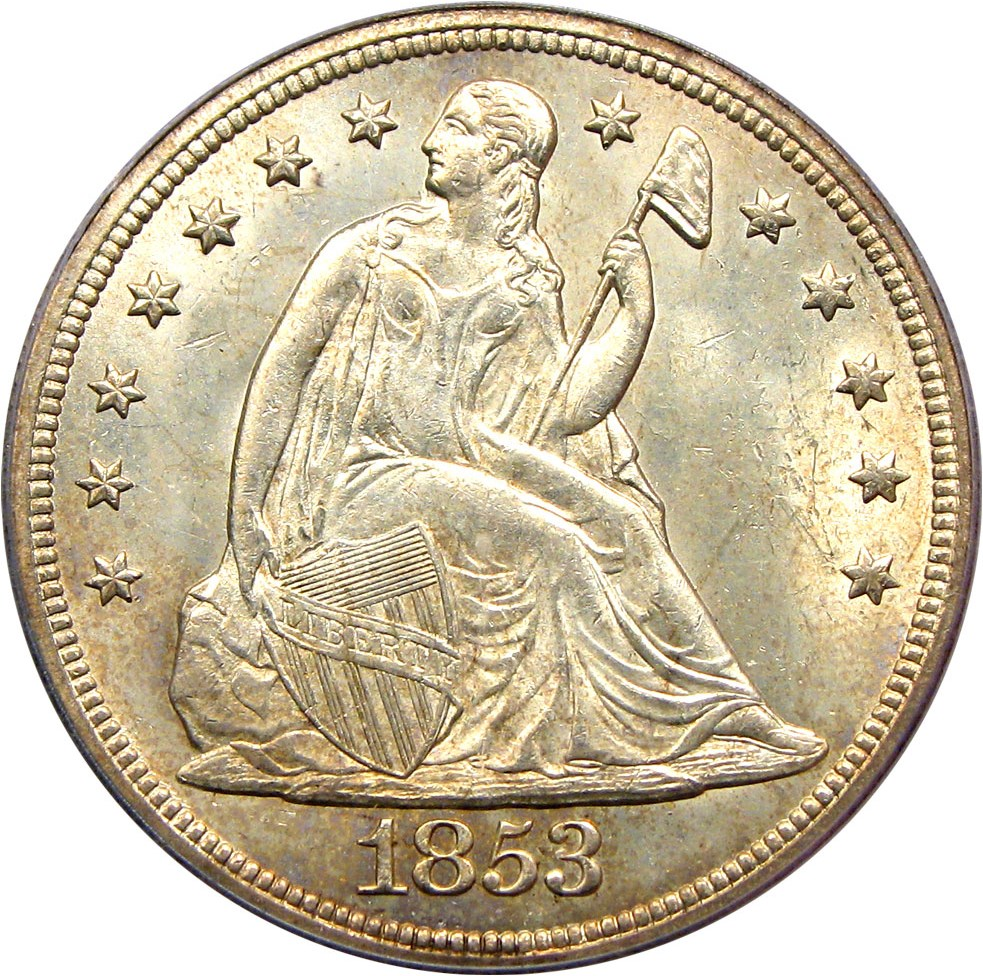 sample image for 1853 $1  MS