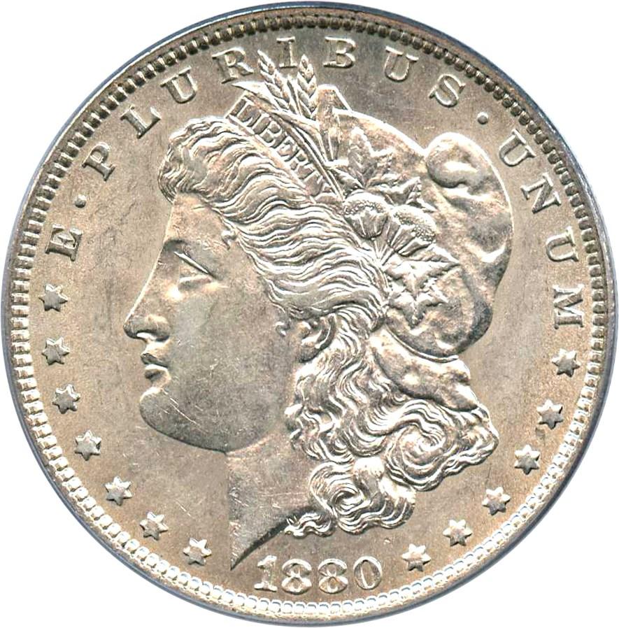 sample image for 1880-O $1  MS VAM-21, Checkmark