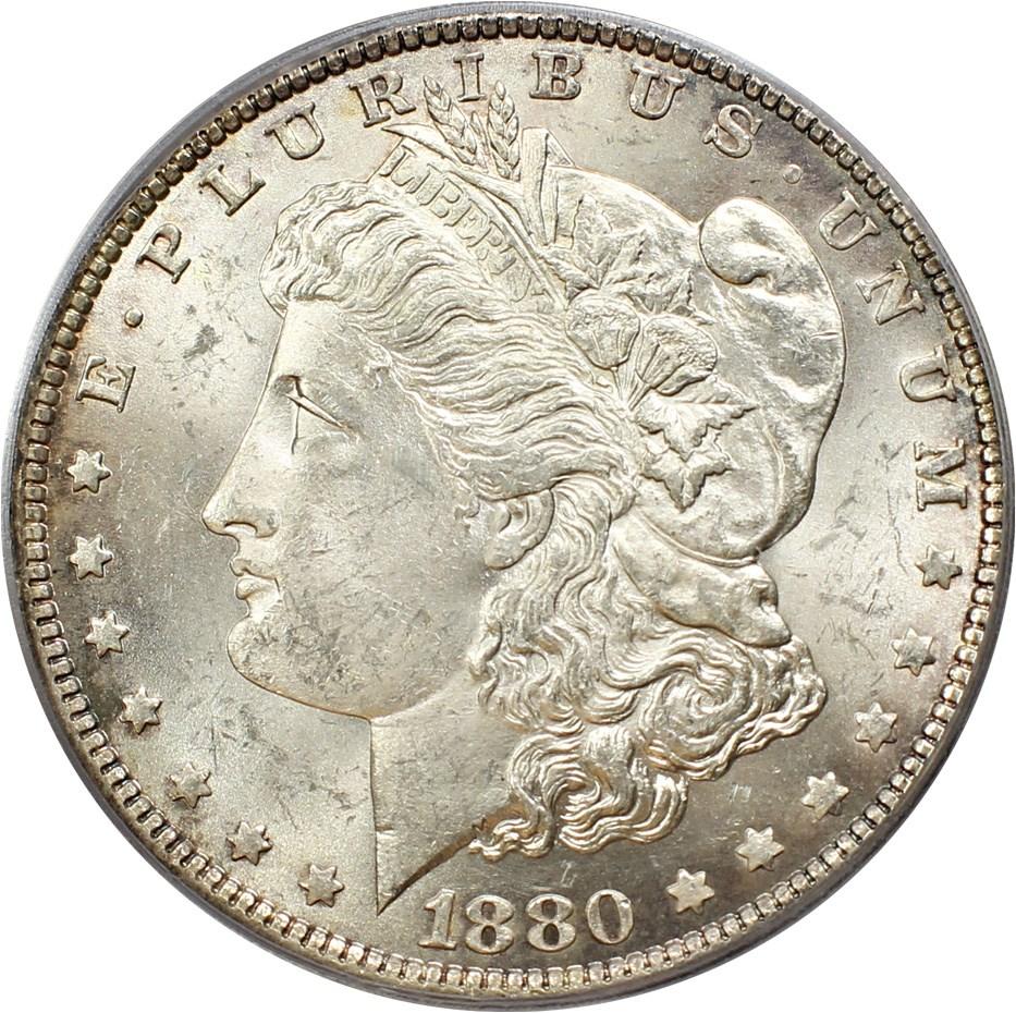 sample image for 1880-O $1  MS VAM-48, Hangnail