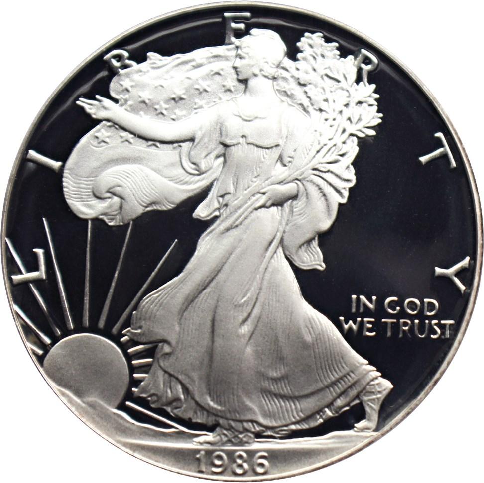 sample image for 1986-S Silver Eagle $1  PR DCAM