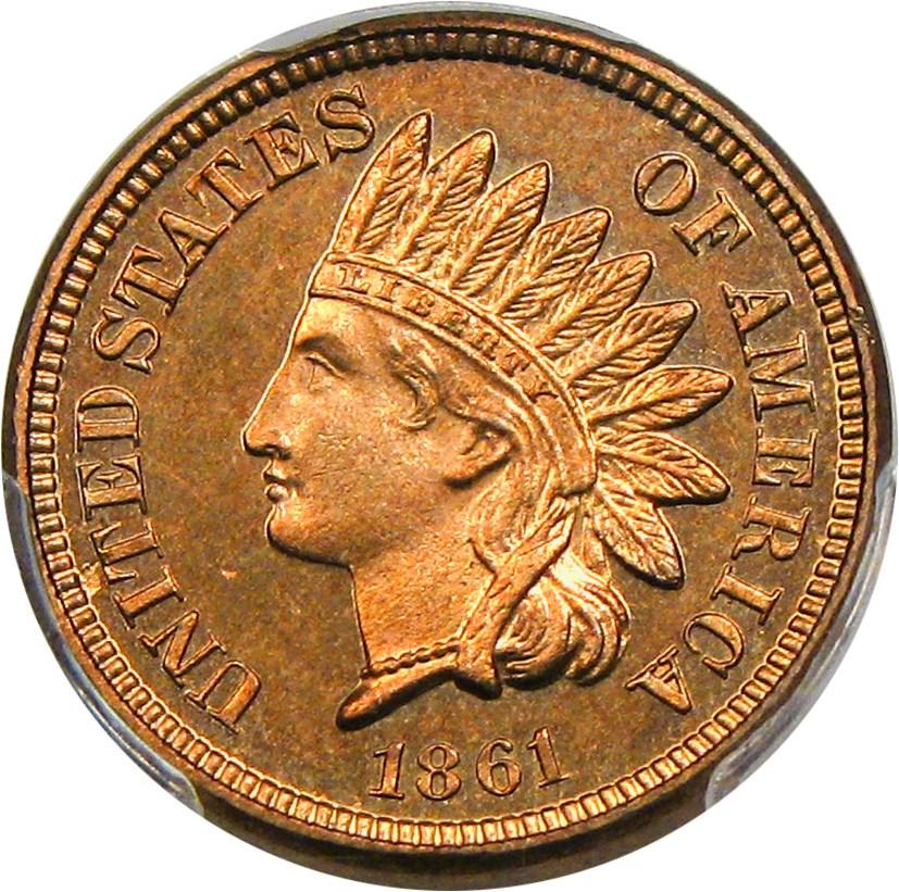 sample image for 1861 1c PR