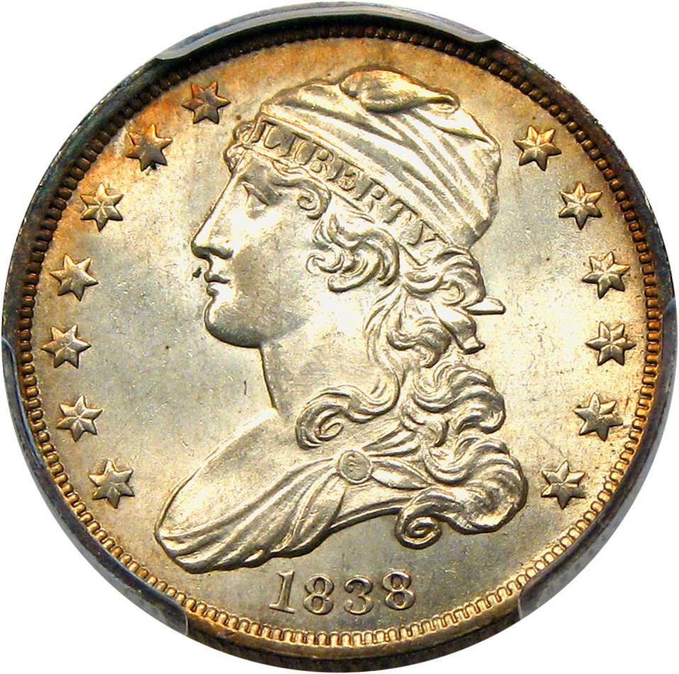 sample image for 1838 Capped Bust 25c MS