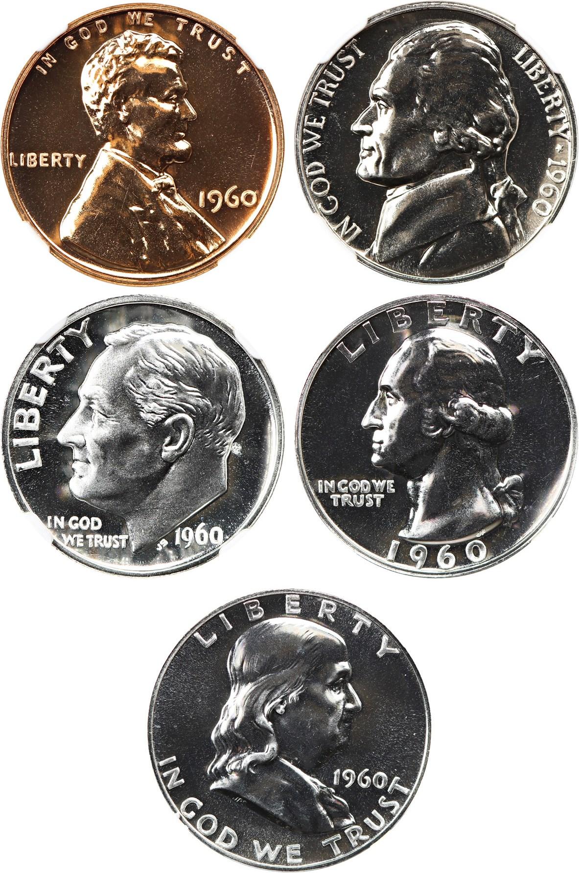 sample image for 1960 Large Date Proof Set 1c-50c PR