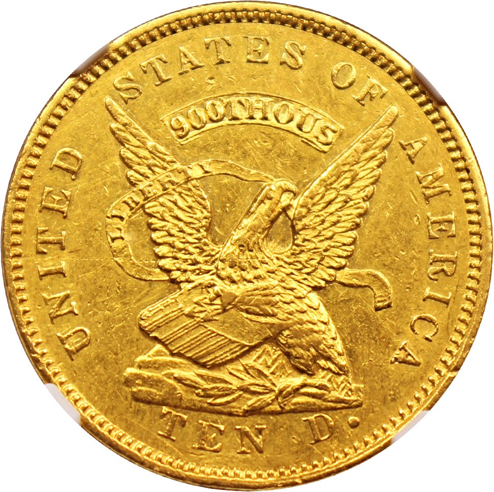sample image for 1853 $10 Assay 900 THOUS