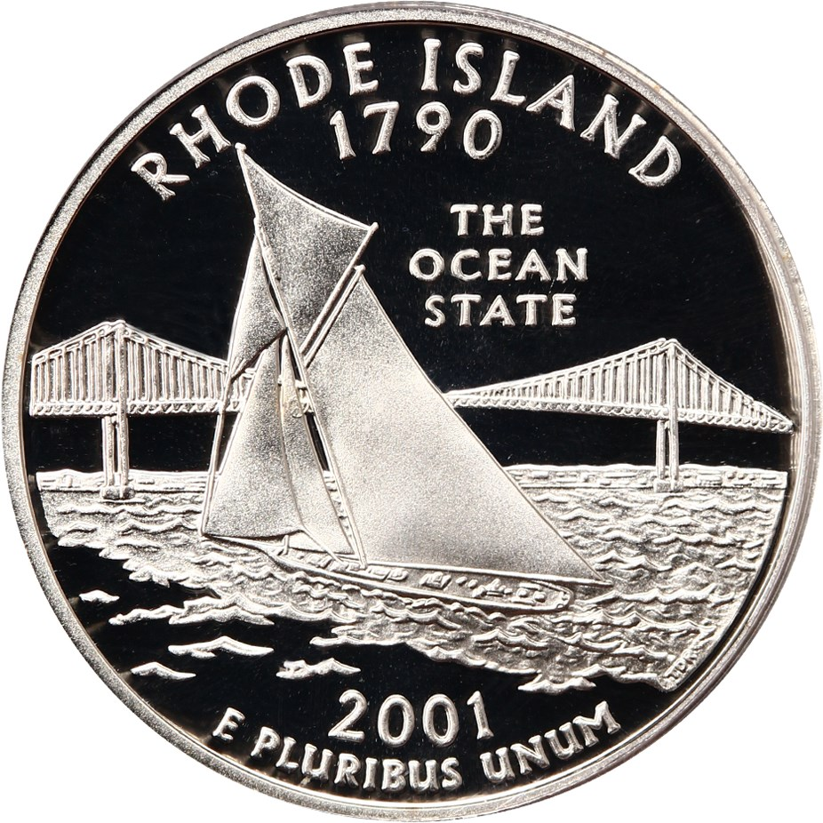 sample image for 2001-S Rhode Island, Silver DCAM