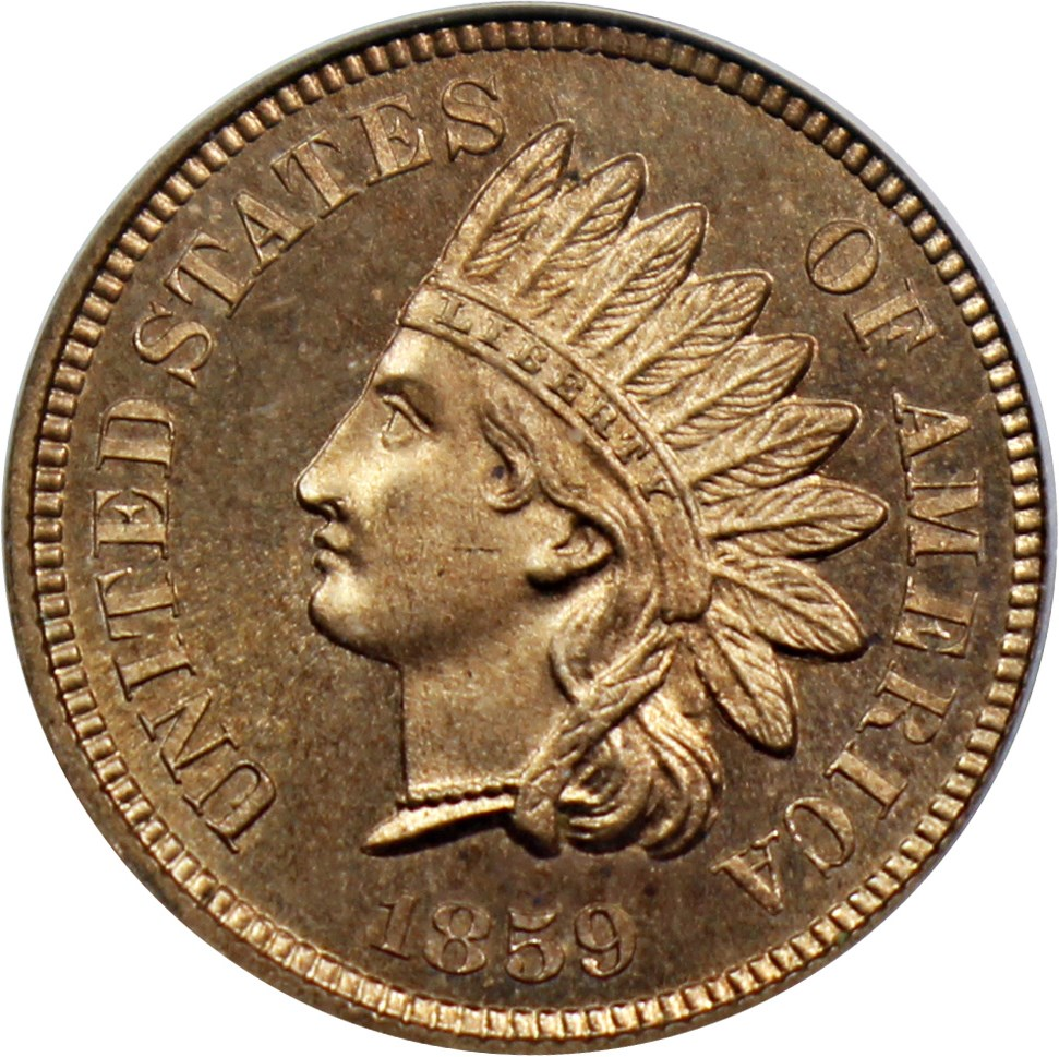 sample image for 1859 1c PR [Type]