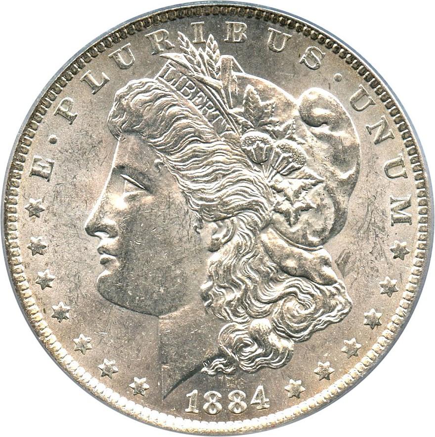 sample image for 1884-O $1  MS VAM-35, Doubled Eyelid