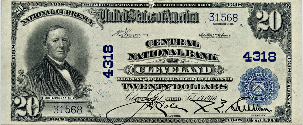 sample image for 1902 3rd Charter Period $20  Plain Back 3rd Issue (Fr.# 653)
