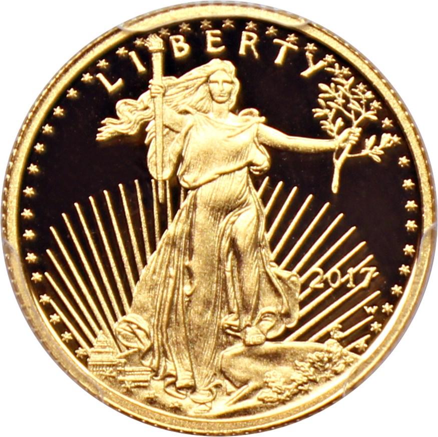 sample image for 2013-W Gold Eagle $5  PR DCAM