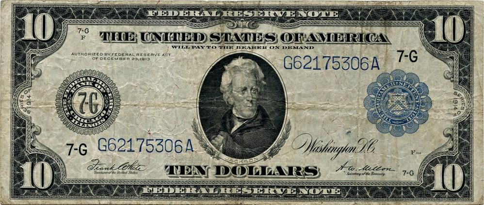 sample image for Fr.931A $10 Chicago