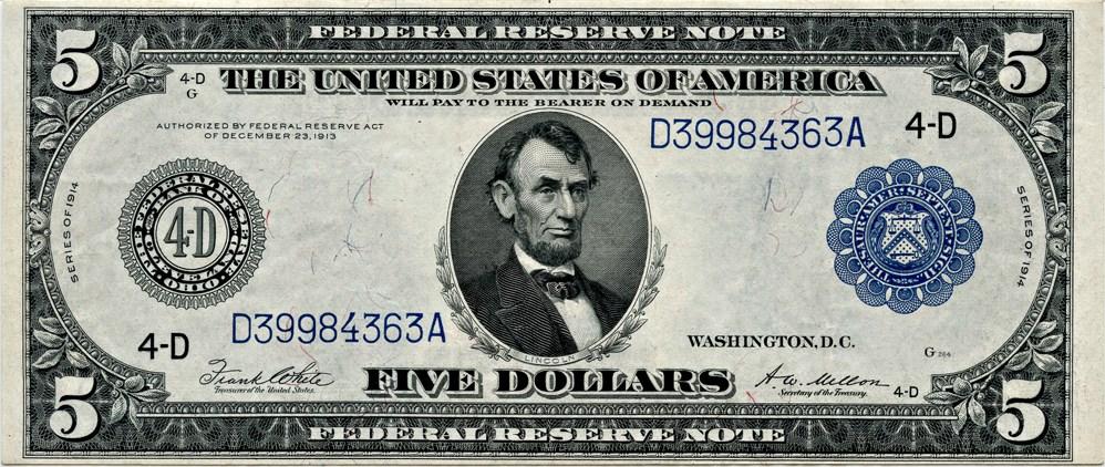 sample image for Fr.859A $5 Cleveland