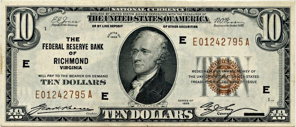 sample image for 1929 $10  Richmond (Fr.# 1860E)