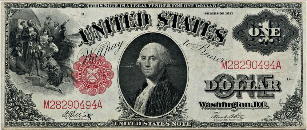 sample image for 1917 $1  (Fr.# 38)