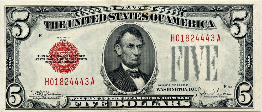 sample image for 1928E $5  (Fr.# 1530)