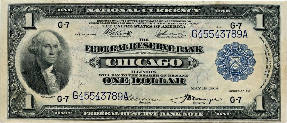sample image for 1918 $1  Chicago (Fr.# 729)