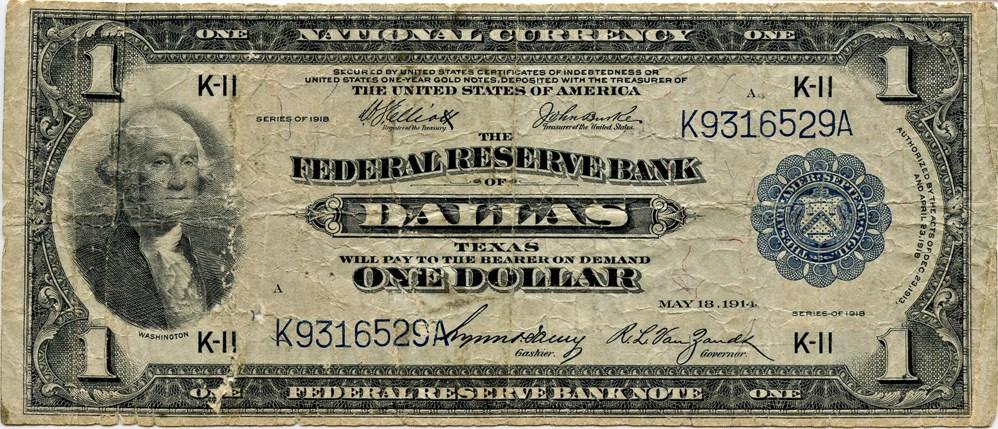 sample image for 1918 $1  Dallas (Fr.# 741)