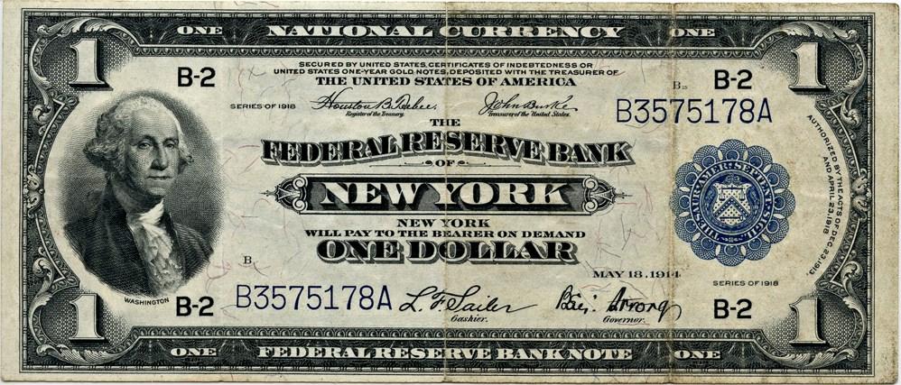 sample image for 1918 $1  New York (Fr.# 711)
