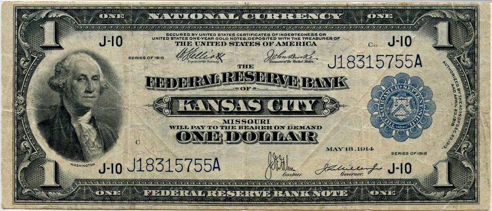 sample image for 1918 $1  Kansas City (Fr.# 739)