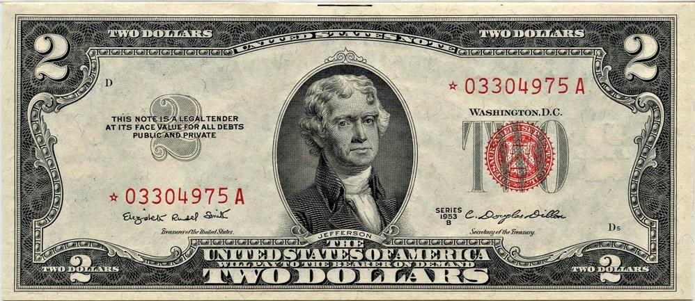 sample image for 1953B $2  (Fr.# 1511*)