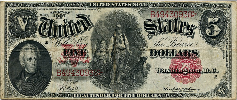 sample image for 1907 $5  (Fr.# 85)