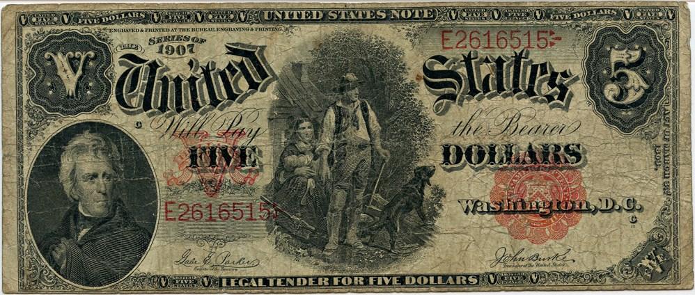 sample image for 1907 $5  (Fr.# 87)