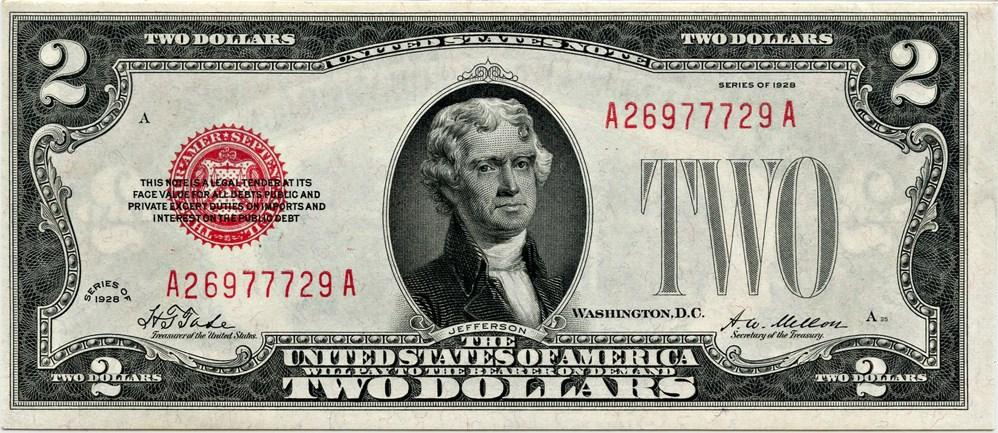 sample image for 1928 $2  (Fr.# 1501)