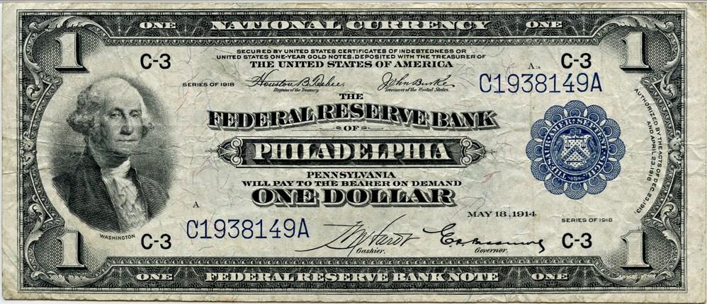 sample image for 1918 $1  Philadelphia (Fr.# 714)