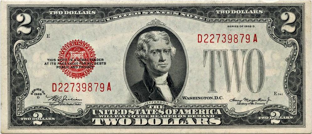 sample image for 1928D $2  (Fr.# 1505)
