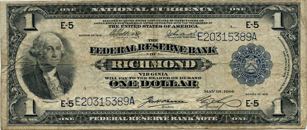 sample image for 1918 $1  Richmond (Fr.# 722)