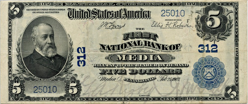 sample image for 1902 3rd Charter Period $5  Plain Back 3rd Issue (Fr.# 598)