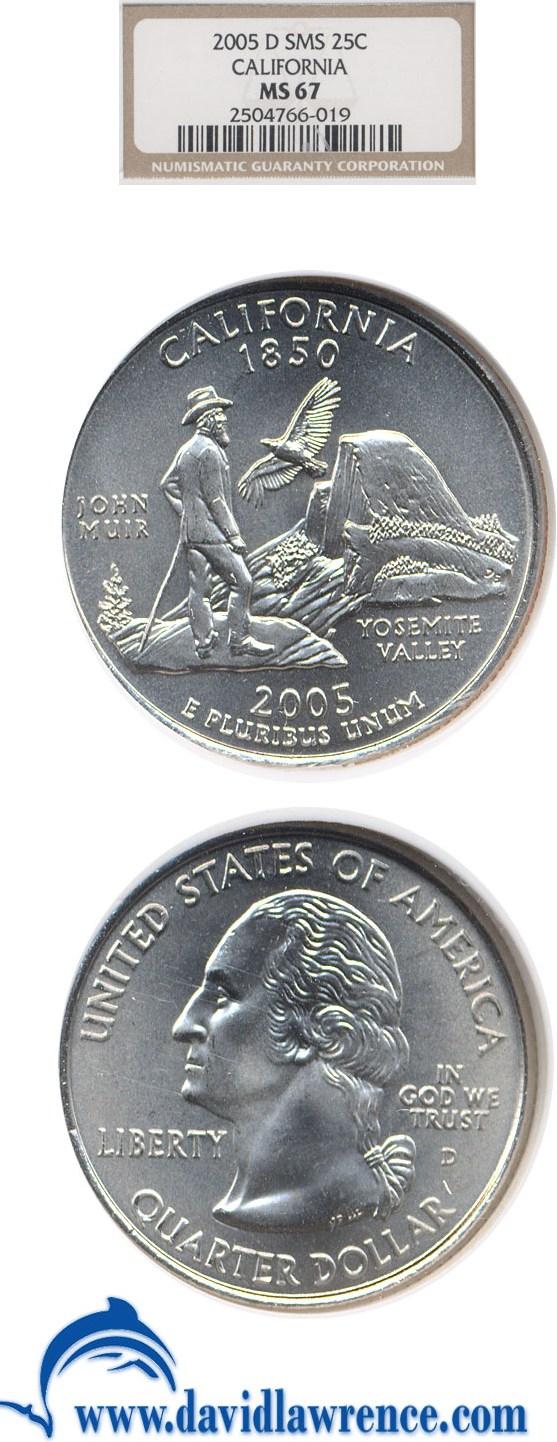 sample image for 2005-D California 25c SP Satin Finish