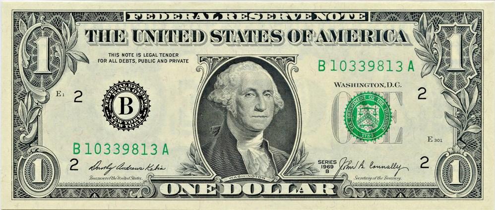 sample image for 1969B $1  New York (Fr.# 1905B)