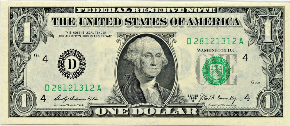 sample image for 1969B $1  Cleveland (Fr.# 1905D)